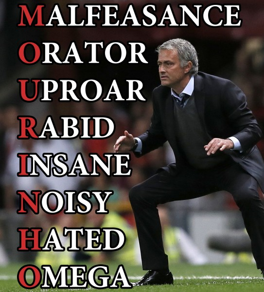 Chelsea's manager Jose Mourinho is seen during their English Premier League soccer match against Manchester United at Old Trafford